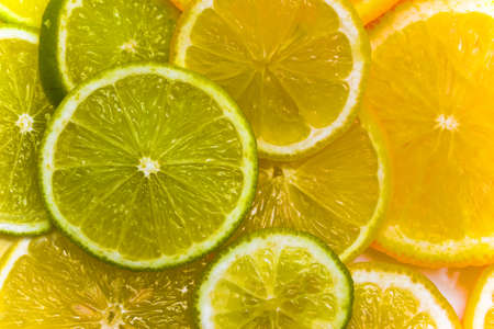 zesty: Slices of fruits