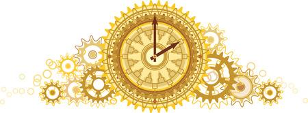 황금 시계 일러스트