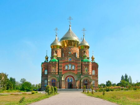 sobor: Cathedral of Grand Prince St. Vladimir, Equal-to-the-Apls. (The biggest orthodox temple on the Eastern Ukraine, location: Lugansk. Name in Russian: Vladimirsky sobor).