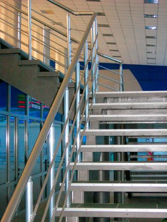 Modern metallic stairs photo