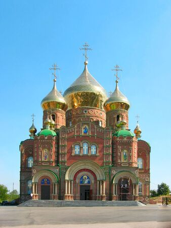 sobor: Cathedral of Grand Prince St.Vladimir, Equal-to-the-Apls. (The biggest orthodox temple on the Eastern Ukraine, location: Lugansk. Name in Russian: Vladimirsky sobor). Stock Photo