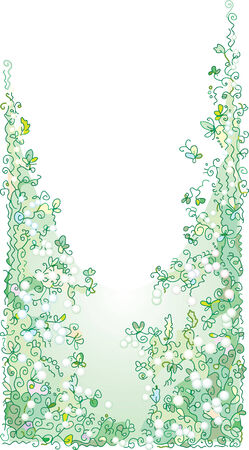 Pale greenery Stock Vector - 4787687