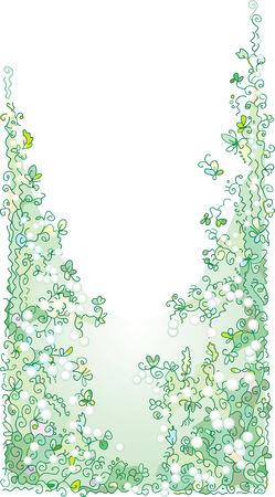 summery: Pale greenery