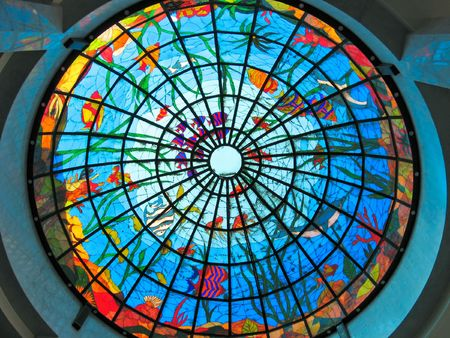 Stained-glass dome Banco de Imagens