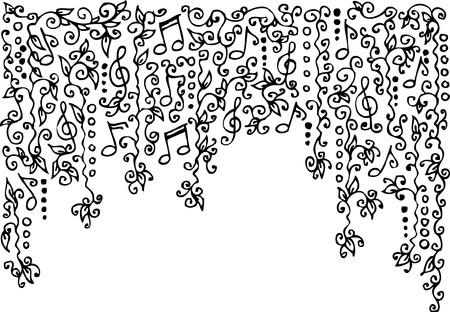 clef de fa: Vignette musicale. Eau-forte.  Illustration