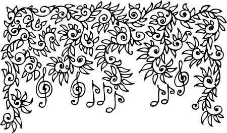Musical vignette. Eau-forte. Stock Vector - 5365200