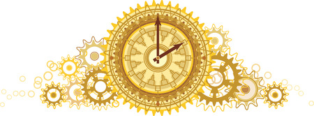 workings: Golden clock