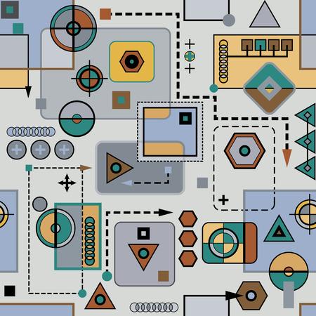 기계식 원활한 패턴 일러스트