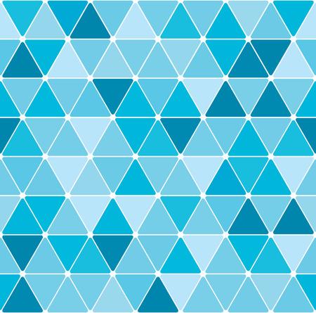 アクアマリン: 冬の三角形のパターンの背景  イラスト・ベクター素材