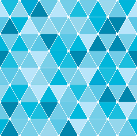 turquoise background: Winter triangle pattern background