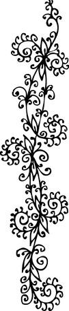 Floralen Vignette. Eau-Forte 189. Illustration