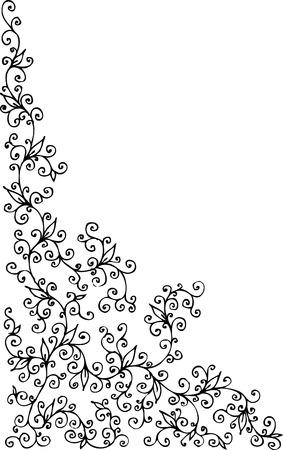 Floral vignette. Eau-forte 273. 向量圖像