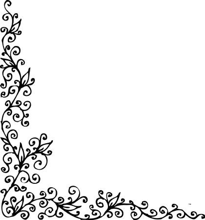 Floral vignette. Eau-forte 282. Vector
