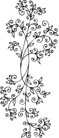 Floral vignette. Eau-forte 283. Stock Vector - 5902664