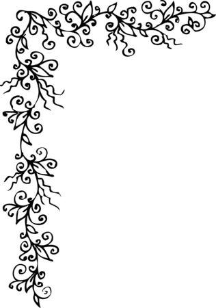 Floral ornament. Eau-forte 301. Vector