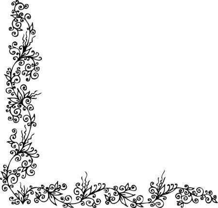 Floral ornament. Eau-forte 302. Vector