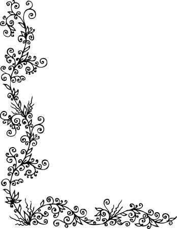 Floral ornament. Eau-forte 303. Vector