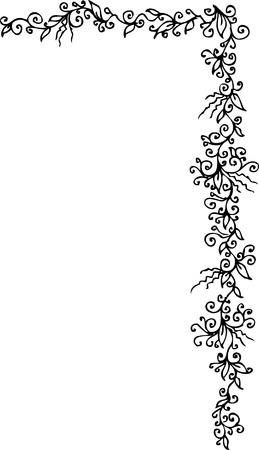 Floral ornament. Eau-forte 304. Stock Vector - 5902676