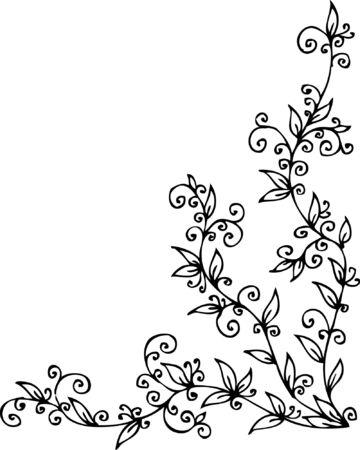 Floral vignette.