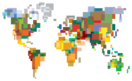 Many-Colored World Vector