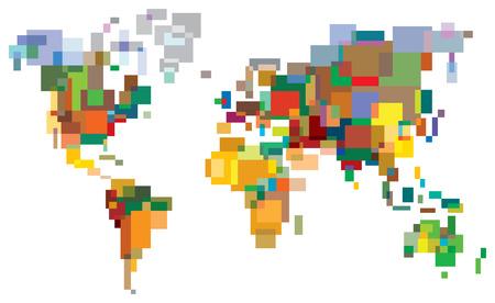 Viele-farbiger Welt