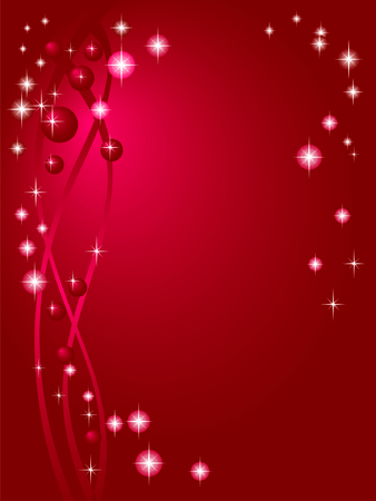 rubin: Claret red background with starlets