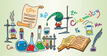 matter: Chemie lab  Stock Illustratie