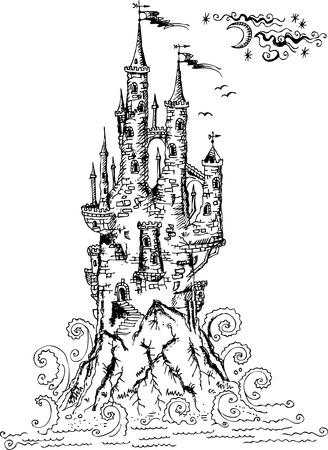 bollwerk: Gotische Burg II  Illustration