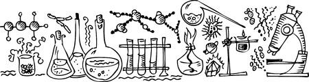 Laboratorio científico III Ilustración de vector