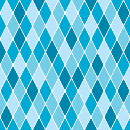 Harlequin winter seamless pattern Illustration