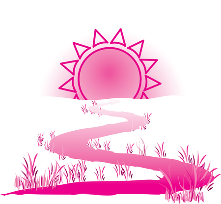 The way to the sun Stock Vector - 5935443