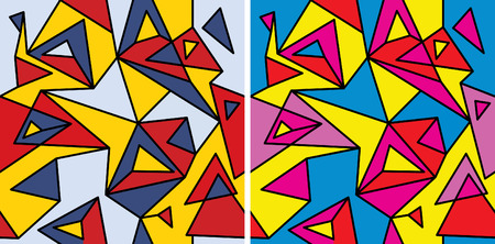 Fragments of the abstraction, cubism and pop-art Vector