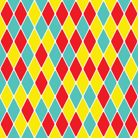 Harlequin parti-coloured seamless pattern 3.4 Vector