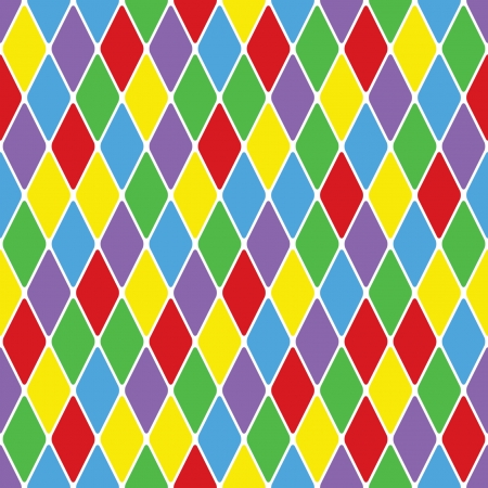 할리퀸 parti-coloured 원활한 패턴 3.6 일러스트