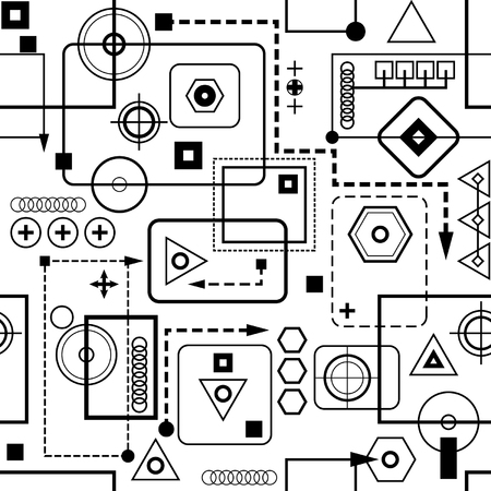 Mechanical seamless pattern 2.0 Stock Vector - 6002367