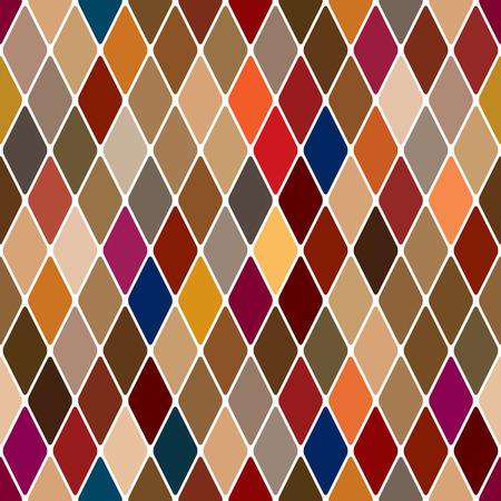 Harlequin baroque seamless pattern