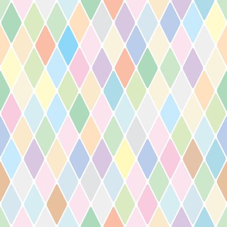 Harlequin pale diamond pattern