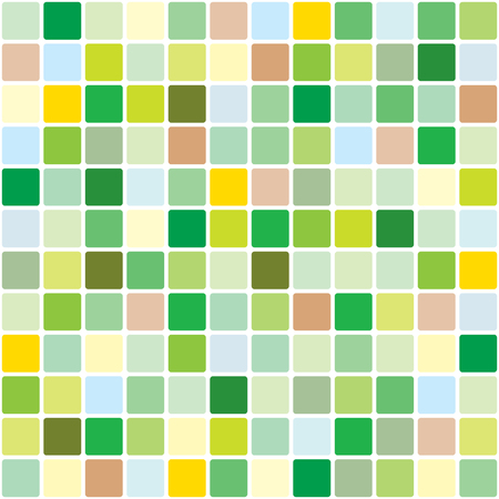 polychromatic: Springtime mosaic pattern Illustration