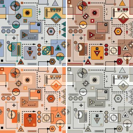 workings: Mechanical pattern set