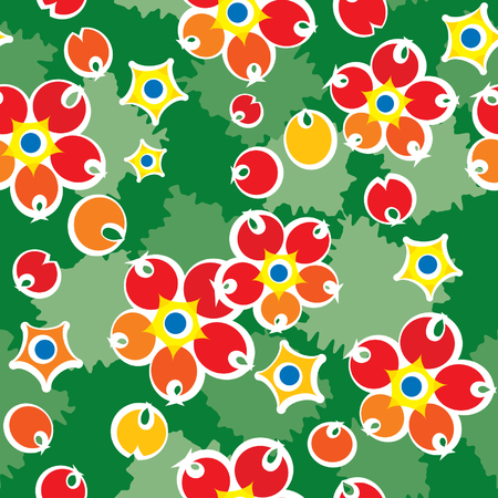 jointless: Barberry summery pattern. Illustration