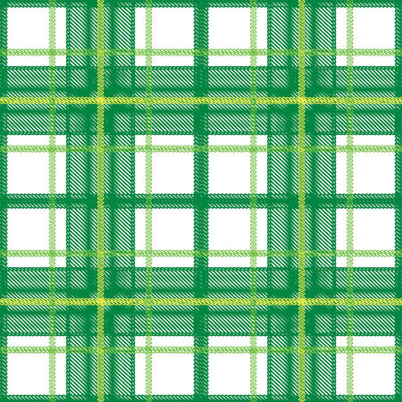 Green Scottish plaid seamless pattern Vector