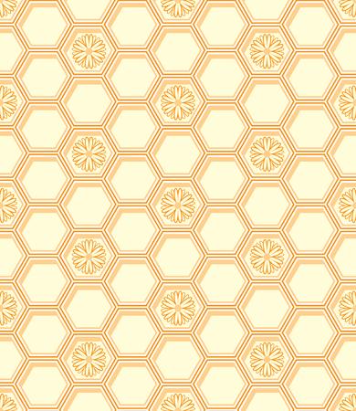 hexagonal: Honeycomb pattern