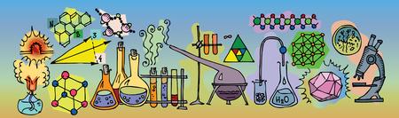화학 실험용 IC 일러스트