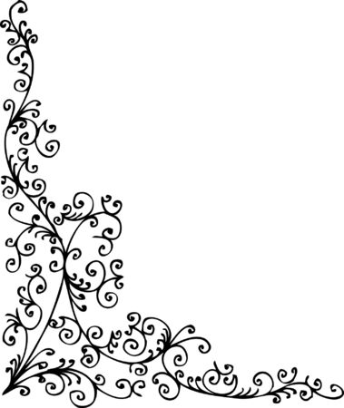 Baroque frozen pattern vignette. Eau-forte 021. Stock Vector - 6167888