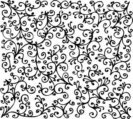 Floral Textur. Eau-Forte-303.