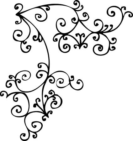 arabesque: Vignetta raffinato. Eau-forte 324.