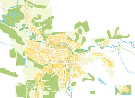 Karte der Stadt  Illustration