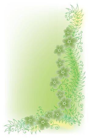 polychromatic: Floral vignette Illustration