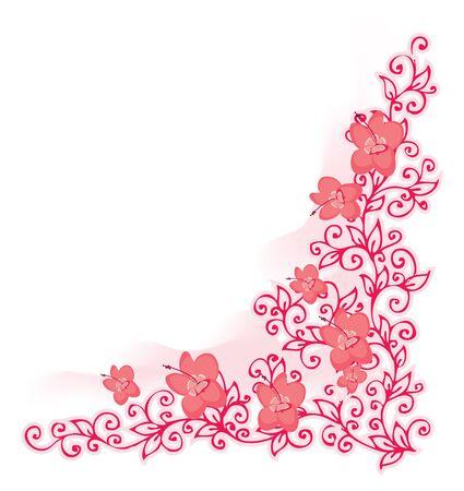 세련 된 꽃 비녜 트입니다. 색상 있음.