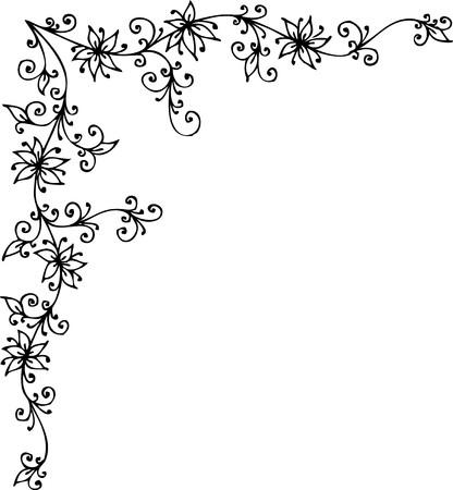 Refined Floral vignette Çizim